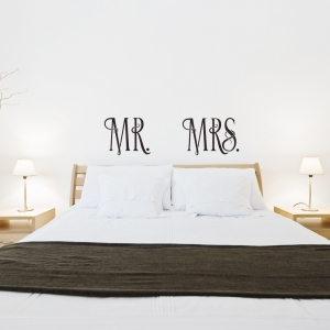 MR and MRS Wall Quote Decal