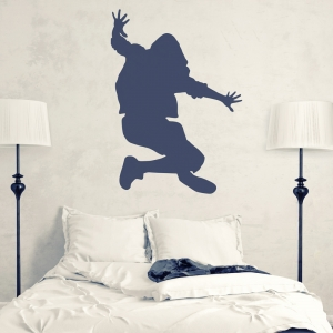 Jumping Hip Hop Dancer Wall Decal