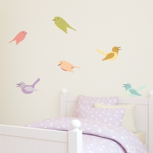 Cutesy Birds Printed Wall Decals