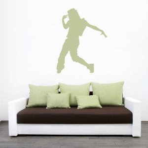 Female Hip Hop Dancer Wall Decal