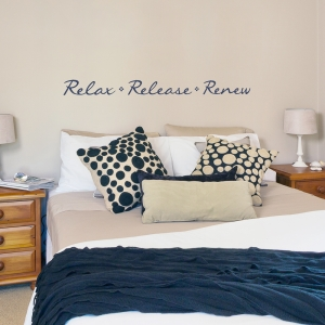 Relax Release Renew Wall Quote Decal