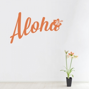Aloha Wall Quote Decal