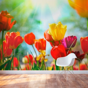 Floral Tulip Wall Mural
