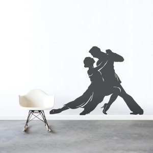 Ballroom Dancers Wall Art Decal