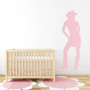 Cute Cowgirl Wall Art Decal