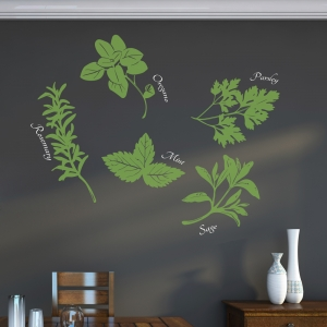 Herbs Wall Art Decal