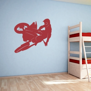 Motocross Racer Wall Decal