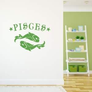 Pisces Zodiac Sign Wall Decal
