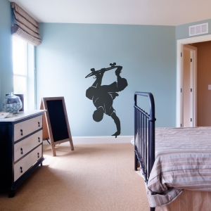 Skateboarder Handplant Wall Art Decal
