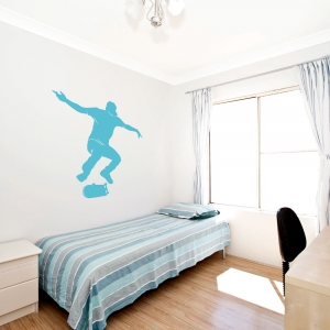 Skateboarder Ollie Wall Art Decal