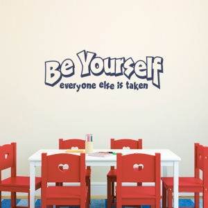 Be Yourself Wall Quote Decal