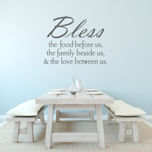 Bless The Food Wall Quote Decal