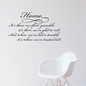 Home Treated Best Wall Quote Decal