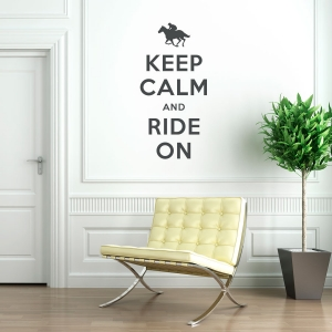 Keep calm and ride on equestrian wall decal