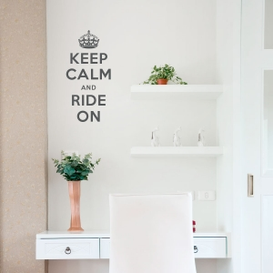 Keep calm and ride on wall decal