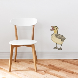 Mallard Duckling Printed Wall Decal