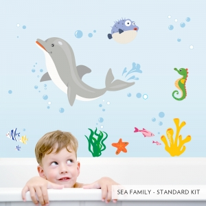 Sea Family Printed Wall Decals