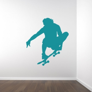 Skateboarder Tail Grab Wall Art Decal