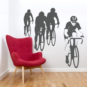 Bike Race Wall Decal