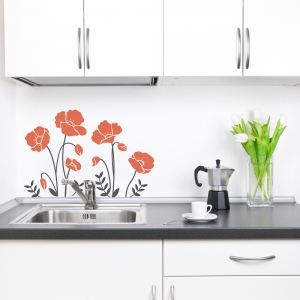 Cali Poppies Wall Art Decal