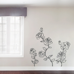 Climbing Roses Wall Decal