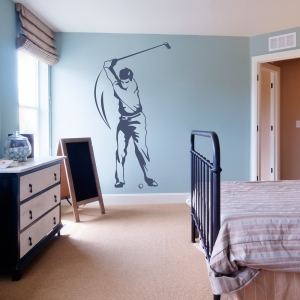 Golfer Wall Art Decal