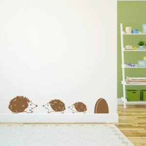 Hedgehog Family Wall Decal