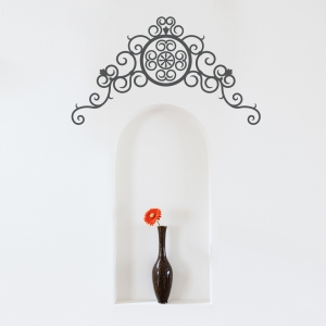 Iron Scroll Wall Decal