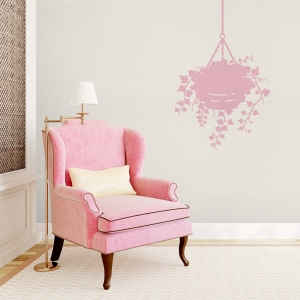 Ivy Basket Wall Decal