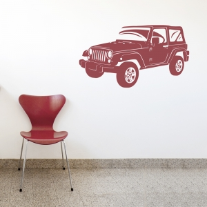Jeep Wrangler Wall Decal