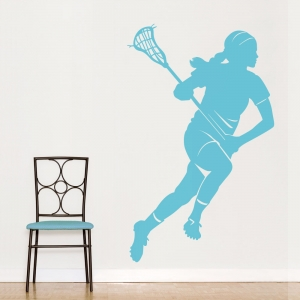Lacrosse Female Wall Art Decal