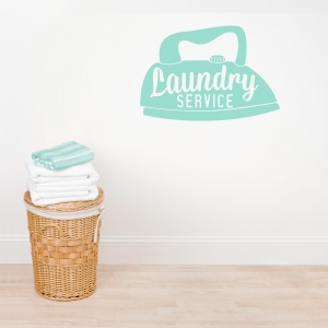 Laundry Service Wall Art Decal