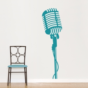 Microphone Wall Art Decal
