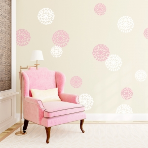 Mum Flowers Wall Art Decal