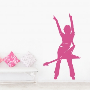Rock Chick Wall Decal
