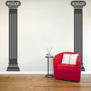 Roman Columns Wall Decal