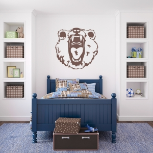 Scary Bear Wall Art Decal