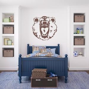 Scary Bear Wall Art Decal