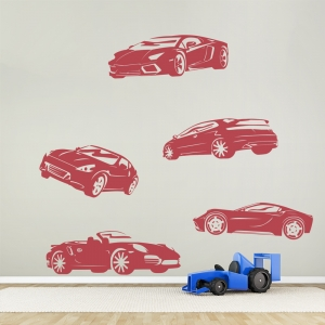 Sports Cars Wall Decal
