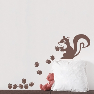 Squirrel Wall Art Decal