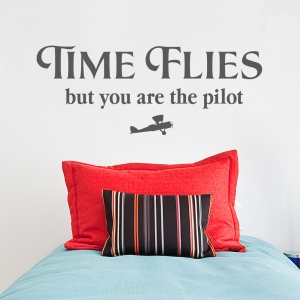 Time Flies Wall Quote Decal