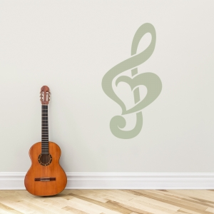 Treble Clef Heart Wall Art Decal