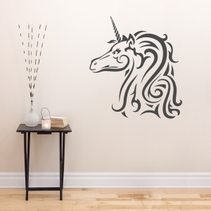 Tribal Unicorn Wall Art Decal