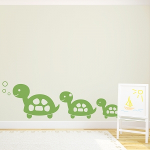 Turtle Family Wall Art Decal