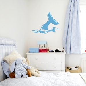 Whale Tail Wall Decal