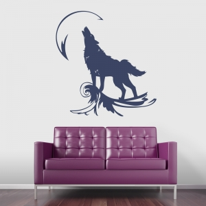 Wolf Howling Wall Decal