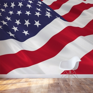 American Flag Accent Wall Mural