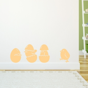 Baby Chicks Art Decal
