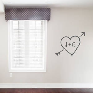 Carved Heart Wall Art Decal