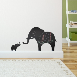 Chalkboard Elephants Wall Decal